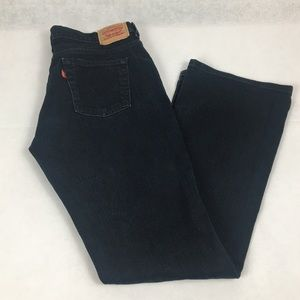 Levi's 515 boot cut dark denim black 8M red tag